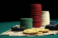 Jugador del concepto? A del póker con los as dobles? Foto de archivo libre de regalías