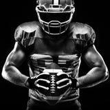 Jugador del deportista del fútbol americano Imagenes de archivo