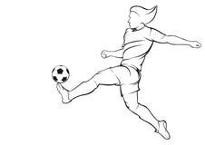 Jugador del fútbol (fútbol) Imágenes de archivo libres de regalías