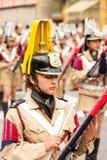 Jugador del Glockenspiel Foto de archivo libre de regalías