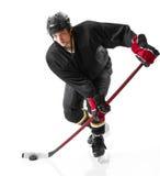 Jugador del hockey sobre hielo imagen de archivo libre de regalías