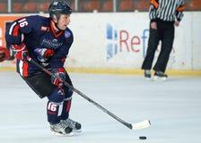 Jugador del hockey sobre hielo Fotografía de archivo libre de regalías
