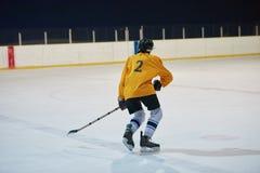 Jugador del hockey sobre hielo en la acción Imágenes de archivo libres de regalías