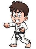 Jugador del karate del muchacho stock de ilustración