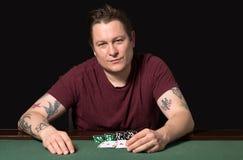 Jugador del póker Imagenes de archivo