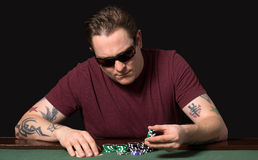 Jugador del póker Imagen de archivo libre de regalías