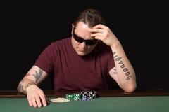 Jugador del póker Imágenes de archivo libres de regalías