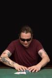 Jugador del póker Fotografía de archivo libre de regalías
