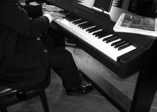 Jugador del piano imagenes de archivo