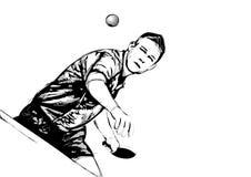 Jugador del ping-pong libre illustration