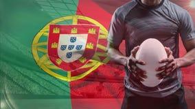 Jugador del rugbi de Portugal ilustración del vector