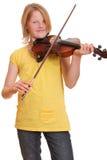 Jugador del violín Imagen de archivo libre de regalías