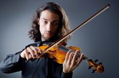 Jugador del violín que juega el intstrument Fotos de archivo
