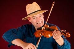 Jugador del violín Fotos de archivo libres de regalías
