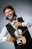 Jugador divertido del violín del violín Fotografía de archivo