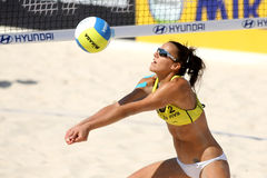 Jugador español Alejandra Simon del voleo de la playa Imagen de archivo