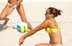 Jugador español Cristina Hopf del voleo de la playa Fotografía de archivo libre de regalías