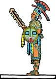 Jugador maya #1 stock de ilustración