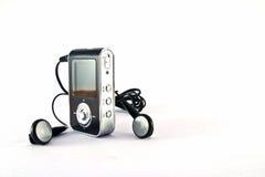 Jugador Mp3 y auriculares Fotos de archivo libres de regalías
