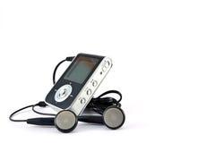 Jugador Mp3 y auriculares Imagen de archivo libre de regalías