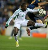 Jugador nigeriano Ejike Uzoenyi Foto de archivo libre de regalías