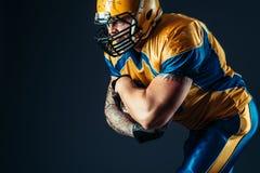 Jugador ofensivo del fútbol americano, NFL foto de archivo