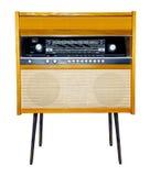 Jugador retro de la radio y del vinilo Fotografía de archivo
