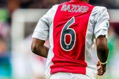 Jugador Riechedly Bazoer de Ajax Imagen de archivo libre de regalías