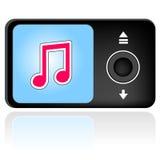 Jugador vectorial mp3 Imagen de archivo libre de regalías