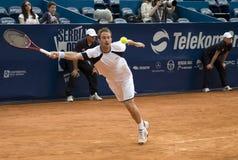 Jugador Volandri ejecutado para una bola Imagen de archivo libre de regalías
