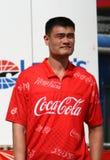 Jugador Yao Ming de NBA en la Coca-Cola 600 de NASCAR fotografía de archivo libre de regalías
