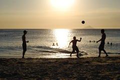 Jugadores 01 de la puesta del sol Foto de archivo libre de regalías