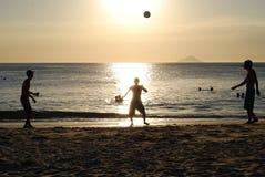 Jugadores 02 de la puesta del sol Fotografía de archivo libre de regalías