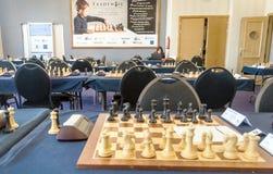 Jugadores de ajedrez Imagen de archivo libre de regalías