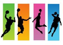 Jugadores de básquet Fotos de archivo libres de regalías