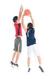 Jugadores de básquet fotografía de archivo libre de regalías