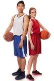 Jugadores de básquet Imagen de archivo libre de regalías