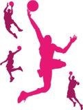 Jugadores de básquet Fotos de archivo