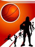 Jugadores de básquet Imágenes de archivo libres de regalías