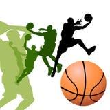 Jugadores de básquet ilustración del vector