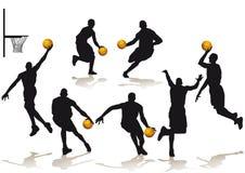 Jugadores de básquet silueteados libre illustration