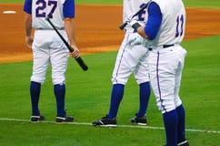 Jugadores de béisbol Fotografía de archivo libre de regalías