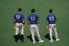 Jugadores de béisbol Imagen de archivo libre de regalías
