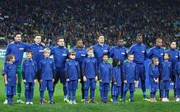 Jugadores de equipo de fútbol nacionales de Francia Imagen de archivo libre de regalías
