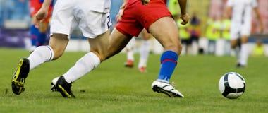 Jugadores de fútbol Imagenes de archivo