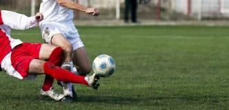 Jugadores de fútbol Fotografía de archivo libre de regalías