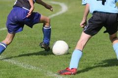 Jugadores de fútbol Imágenes de archivo libres de regalías