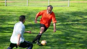 Jugadores de fútbol Foto de archivo libre de regalías
