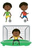 Jugadores de fútbol del African-American Imagen de archivo libre de regalías