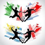 Jugadores de fútbol que representan los países diferentes libre illustration